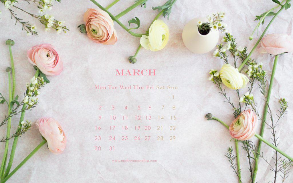 modernmonalisa_march_2015_floral_desktop_calendar_English